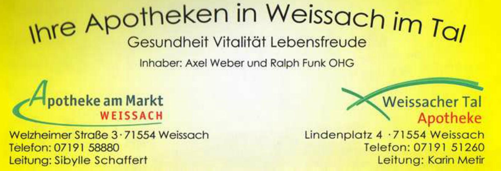 Weissacher Tal Apotheke OHG