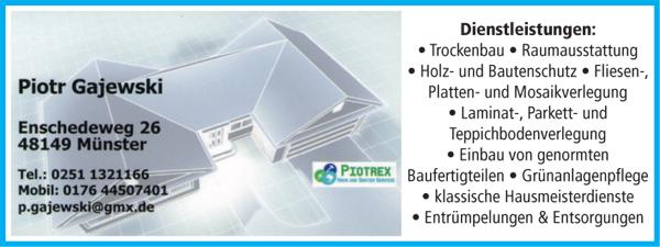 net - Haus und Garten Service Piotrex - Renovierungen ...