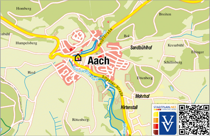Stadtplan Aach, Konstanz, Baden-Württemberg, Deutschland - stadtplan.net
