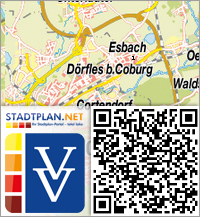 Stadtplan Dörfles-Esbach, Coburg, Bayern, Deutschland - stadtplan.net
