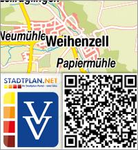 Stadtplan Weihenzell, Ansbach, Bayern, Deutschland - stadtplan.net