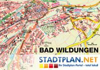 Bad Wildungen Stadtplan, Waldeck Frankenberg Karte, Hessen, Deutschland - stadtplan.net