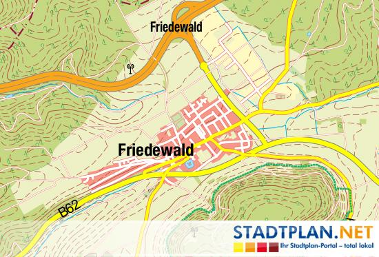 Stadtplan Friedewald, Hersfeld-Rotenburg, Hessen,    Deutschland - stadtplan.net