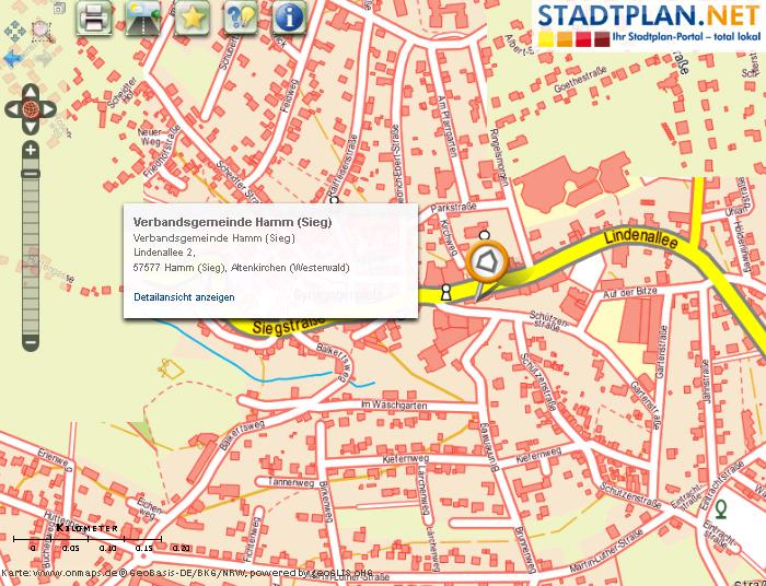 Stadtplan Hamm (Sieg), Stadtplan Altenkirchen Westerwald, Rheinland-Pfalz, Deutschland - stadtplan.net