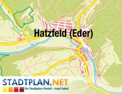 Stadtplan Hatzfeld (Eder), Waldeck-Frankenberg, Hessen, Deutschland - stadtplan.net