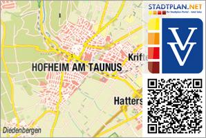 Stadtplan Hofheim am Taunus, Main-Taunus-Kreis, Hessen, Deutschland - stadtplan.net
