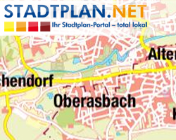 Stadtplan Oberasbach, Fürth, Bayern, Deutschland - stadtplan.net