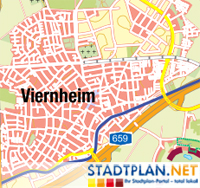 Stadtplan  Viernheim, Bergstraße, Hessen, Deutschland -  stadtplan.net